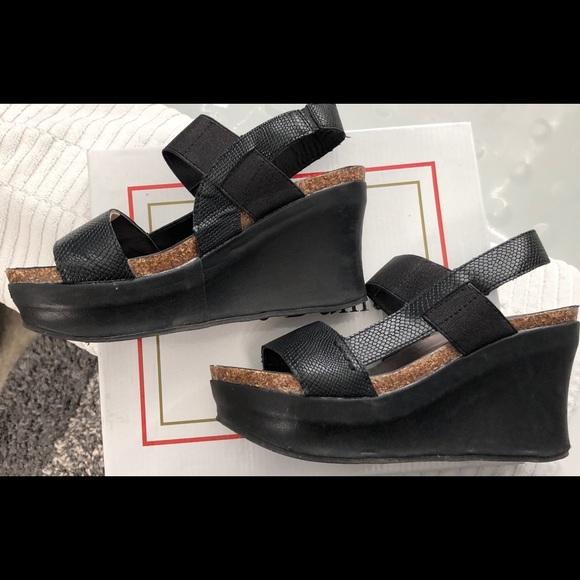 482ac55428d Pierre Dumas Platform Wedge Sandal. M 5c4a0698819e909f30716a95